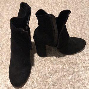Target black booties Sz-7 1/2